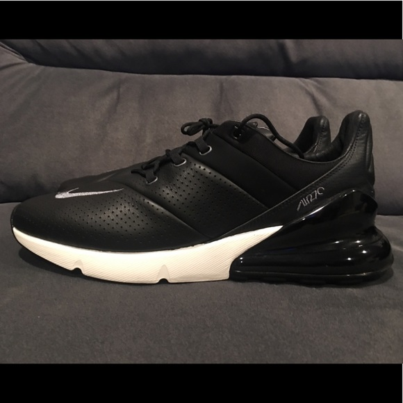 Nike Other - Nike Air Max 270 Premium Black Leather Men Size 12